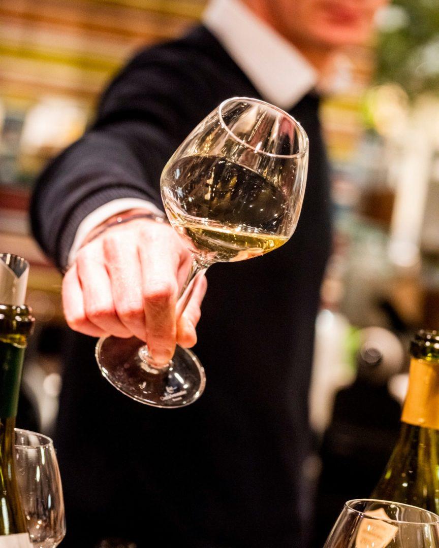 bouteilles verre vin blanc