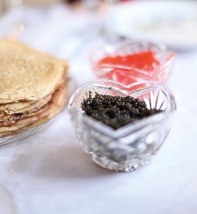 caviar recipient